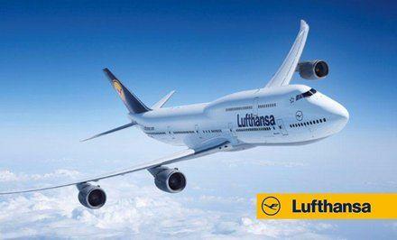 grafika Bilety lotnicze Lufthansy