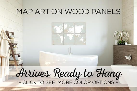 World Map Wall Art  Shop World Maps For Sale  Over 25 Color
