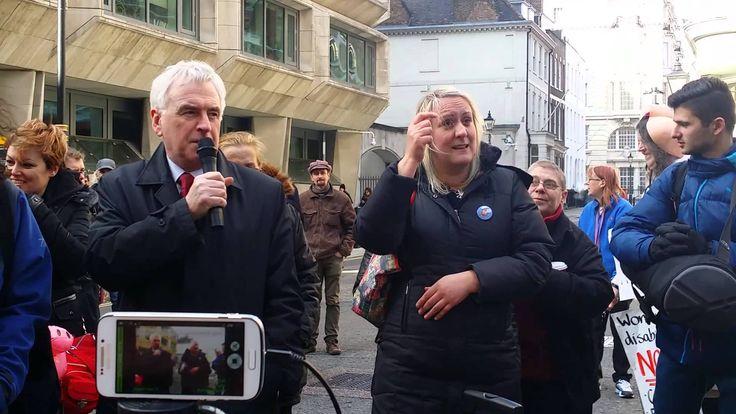John Mcdonnell MP. DPAC Demo Maximus