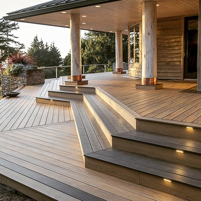 Create an outdoor sanctuary with timbertech composite decking products available at www nationaldecking com