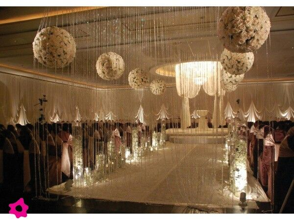 Decoracion de boda con cristales bodas pinterest for Decoracion salon vintage