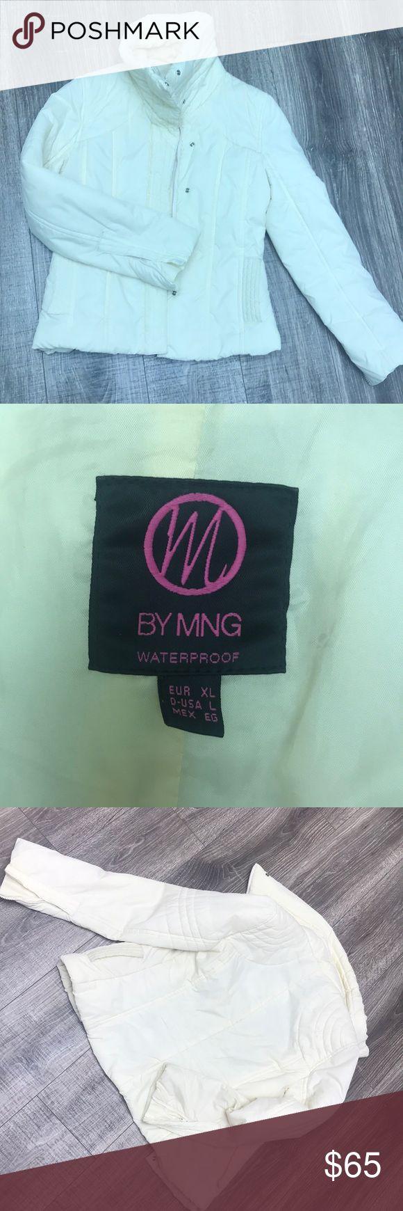 Jacket by Ming/Mango Jacket, mango, by Ming, size L, runs more like M... off white , Amazing Love ❤️ it!!! Bought in UK Mango Jackets & Coats Utility Jackets