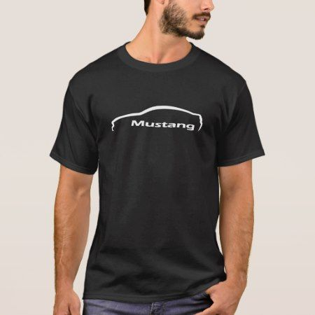 Mustang GT Coupe White Silhouette Logo T-Shirt - click/tap to personalize and buy