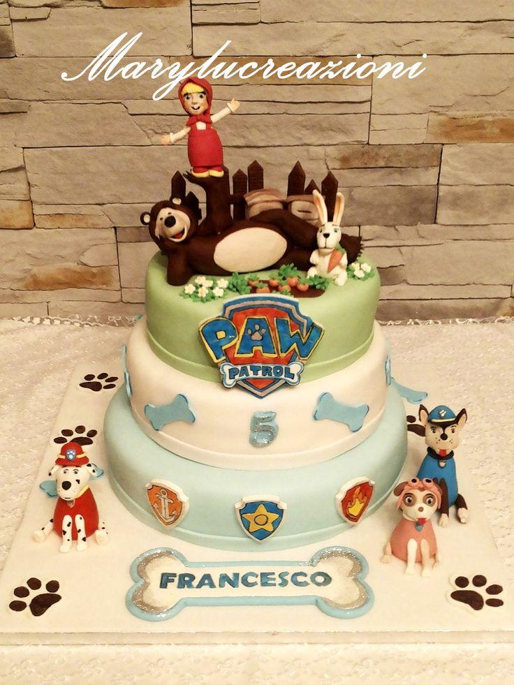 Torta Masha e Orso e Paw Patrol