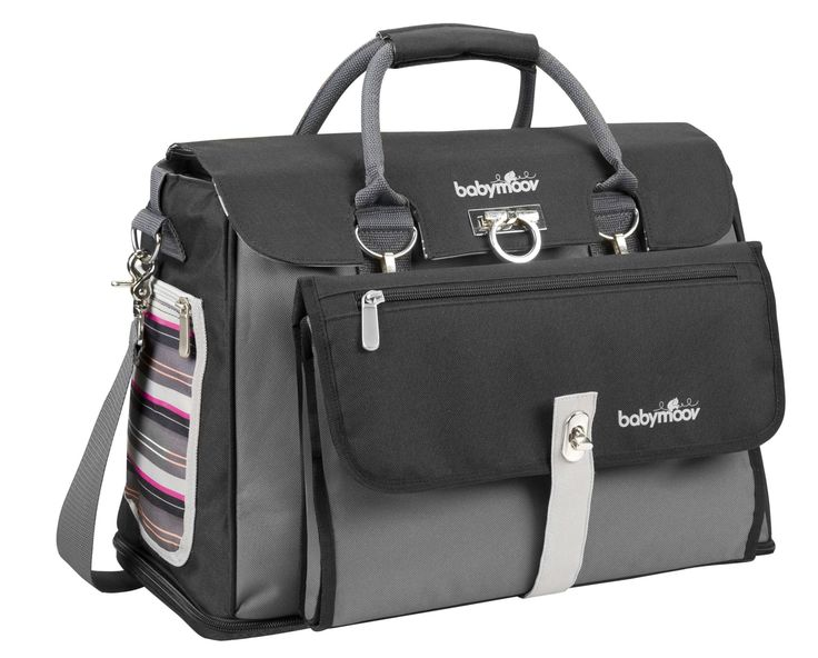 Babymoov changing Bag Free Hand - Black  Grey