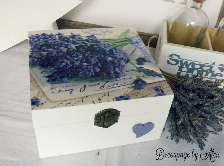 Decoupage lavander box