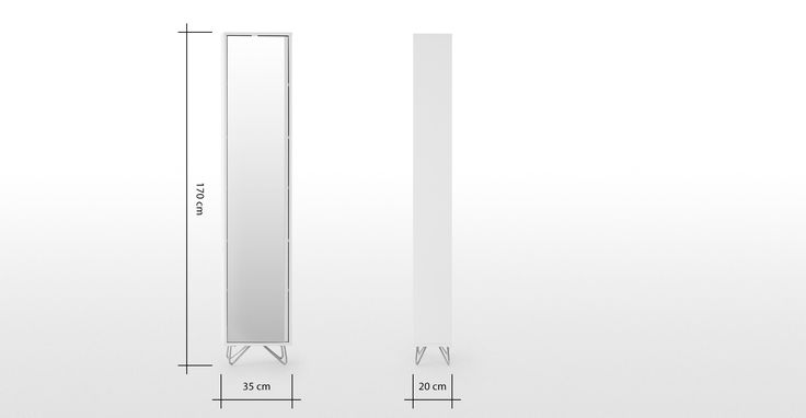 Elona Tall Boy, White and Chrome | made.com