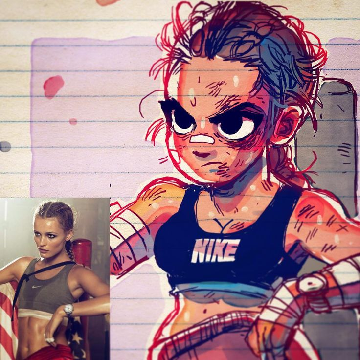 Tough training #art #sketch #drawing #boxing #sports #characterdesign #ink #watercolor #study