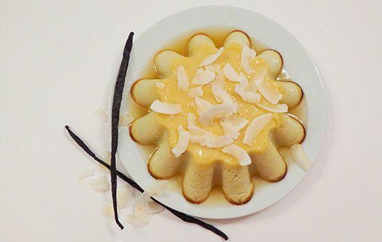 Рецепт Кокосового флана (Coconut Flan): кокосовое молоко, сливки, сгущенное молоко, ром