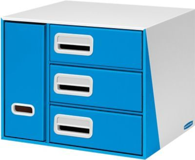 $38.84 Bankers Box® Premier™ 3-Drawer with Bin Organizer, Blue Item: 1074246    Model: 7648601