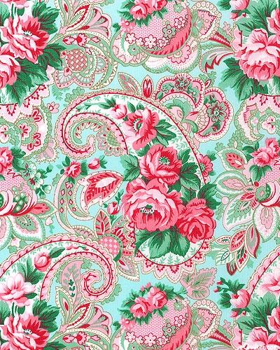 Veranda - Paisley Rose - Azure