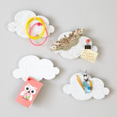 Mini Cloud Corkboards (Set of 4)  | The Land of Nod