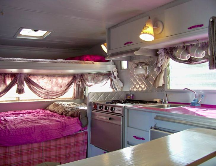 An interior image of the vintage 13' Aristocrat travel ...