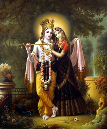 Krishna- Divine lover, preserver of the universe, Lover of Radha, Friend of the afflicted, Refuge of the Destitute