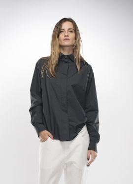 Dark grey shirt | Adelina Ivan Studio
