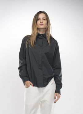 Dark grey shirt | Adelina Ivan Studio