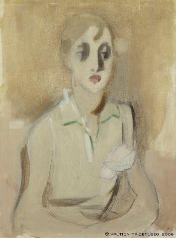 Helene Schjerfbeck: Moderni koulutyttö - Modern Scool Girl 1928
