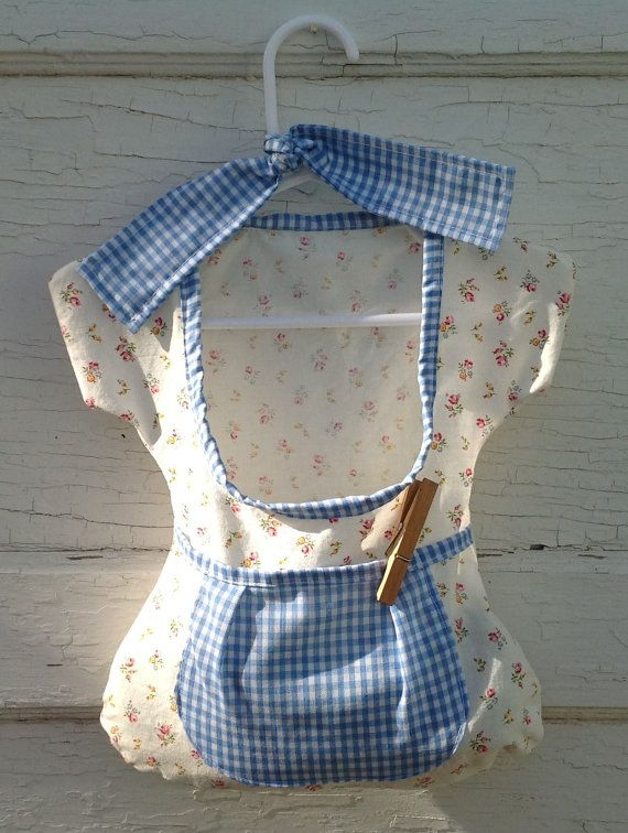 shabby chic vintage inspired country floral shirt clothespin bag….my grandmother…