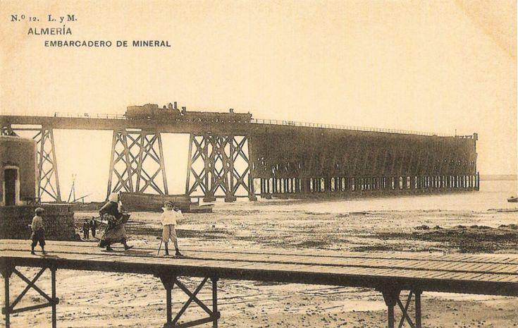 Embarcadero de mineral de Almería (el Cable Inglés). Imprenta Hauser y Menet (Madrid)