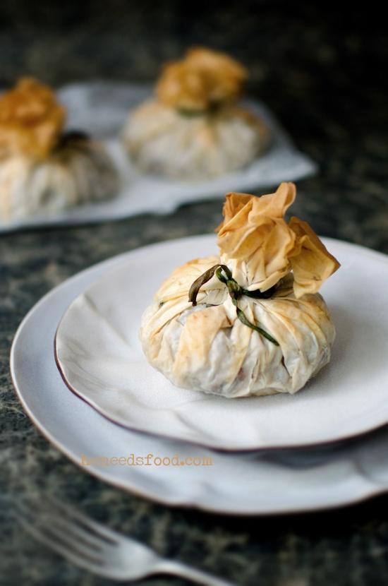 Wild mushroom, balsamic pumpkin + curly kale croustade