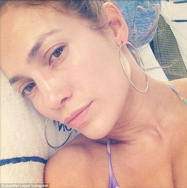 El Selfie Sin Maquillaje De Jennifer López #Fotos