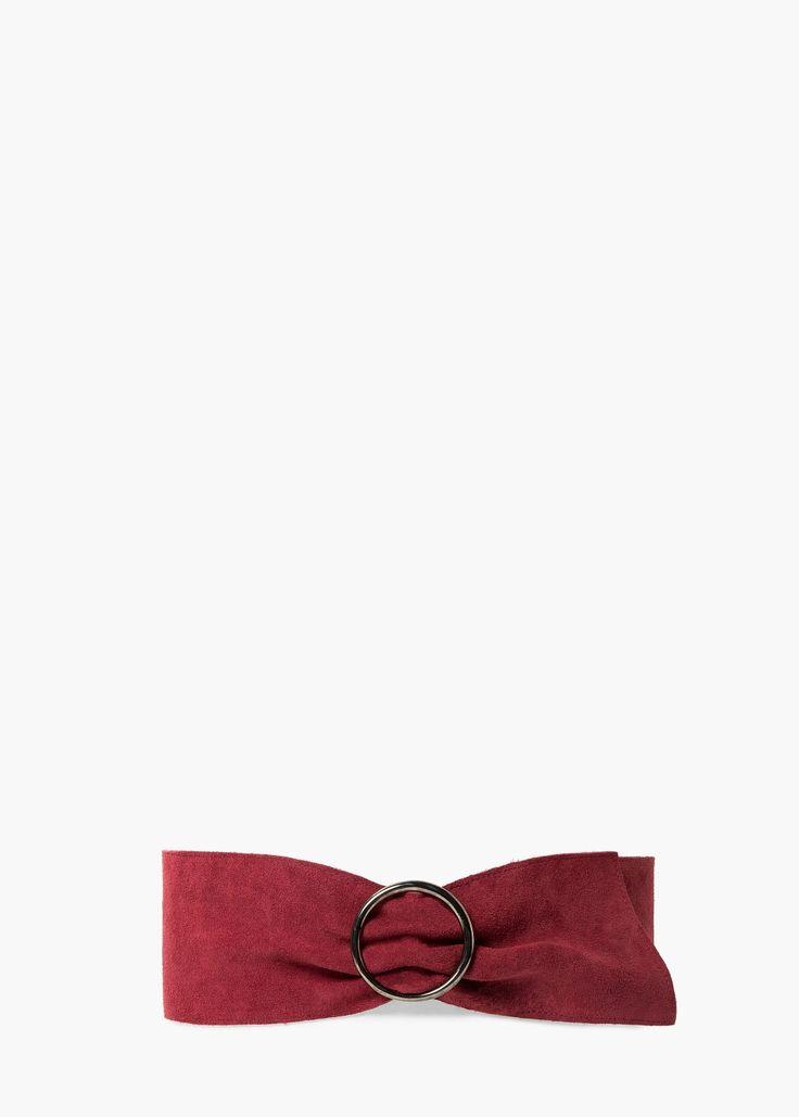 Cinturón ancho piel - Más accesorios de Mujer   MANGO 26€