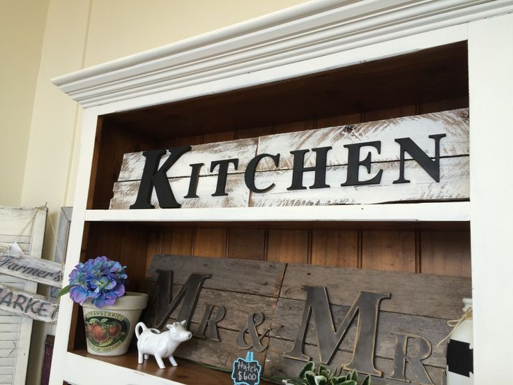 Restored Rubies- Kitchen Sign made from recycled wood.