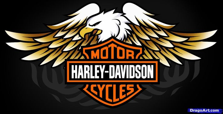free harley davidson logos | how to draw harley-davidson logo, harley-davidson