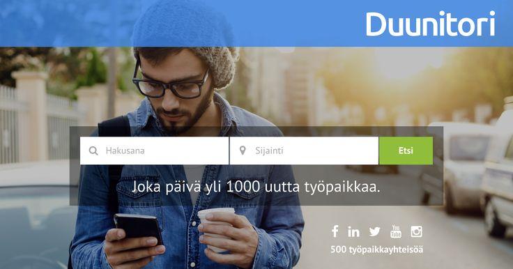 Kaikki avoimet työpaikat yhdellä haulla! Yli 15 000 työpaikkaa odottaa hakemustasi. Duunitorilta myös mol.fi:n työpaikat.