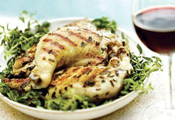 Cuisses de poulet grillées à l'origan