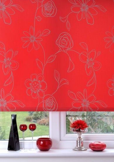 Sunlover Accents Clematis Tango Red Roller Blind