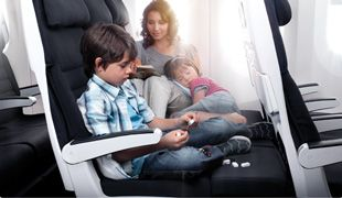 Air New Zealand is one of the best ways to fly to destinations in the Pacific. A new, unique feature they offer is the Economy Skycouch, which takes three seats and turns them into a couch were a couple or small family can have more space to maneuver and relax comfortably. #australia #adventure