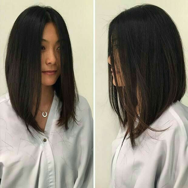 pictures of mid length haircuts best 25 angled bobs ideas on angle bob 4943