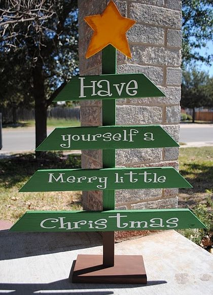 Outdoor Christmas Decoration Ideas - DIY Tree - Click Pic for 20 Front Porch Christmas Decorating Ideas