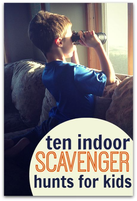 10 Indoor Scavenger Hunts For Kids - great for rainy or way-too-hot summer days