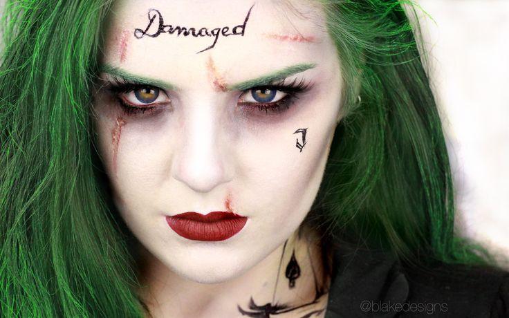 The Joker (Female version) - Suicide Squad, Jared Leto || Makeup tutoria...