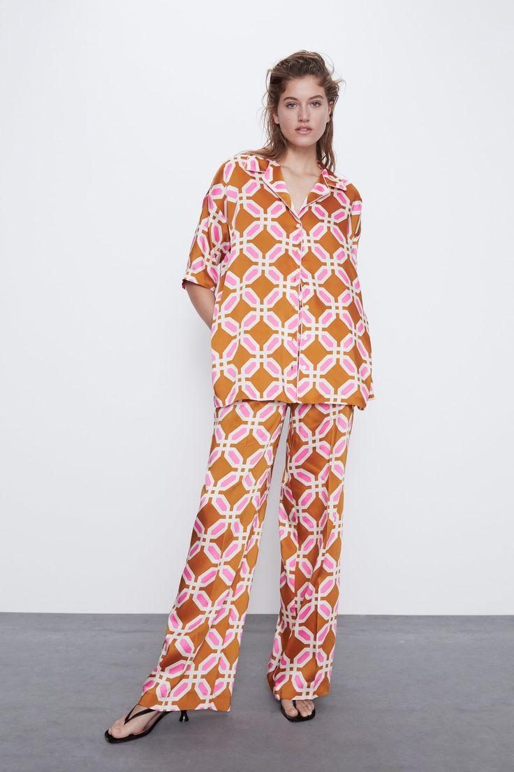 Printed Pajama Top In 2020 With Images Print Pajamas Women