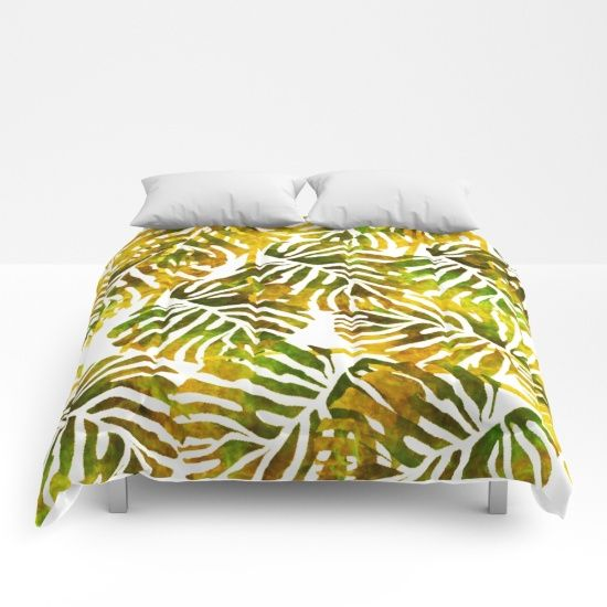 https://society6.com/product/sunset-tropical-leaves-abstract_comforter?curator=bestreeartdesigns.  $99