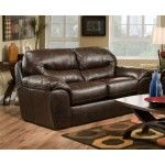 $639.00 Jackson Furniture - Brantley Loveseat in Java Leather- 4430- 02