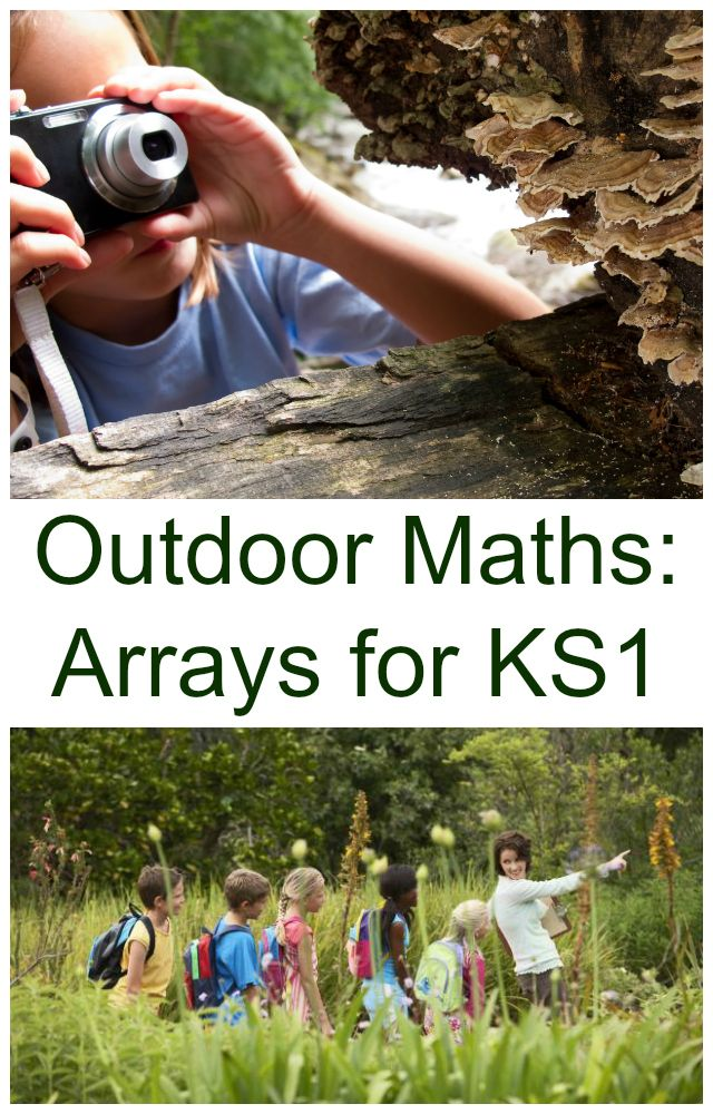 Fun outdoor maths ideas - using arrays for multiplication and division