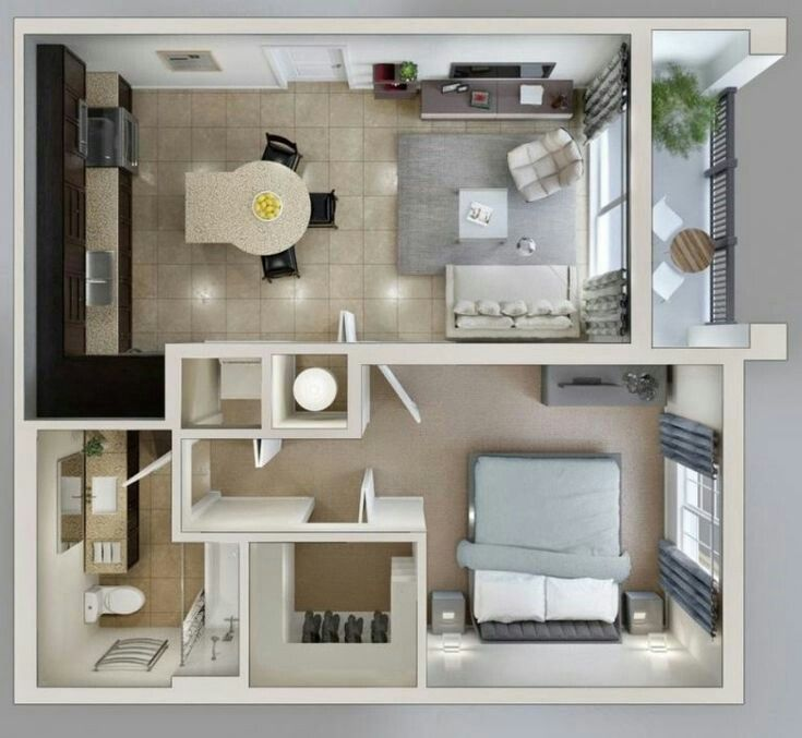 Pin By Biibyh On Plantas Small House Design Plans Sims House Plans Small House Plans
