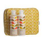 Orla Kiely Large Yellow Wash Bag Set