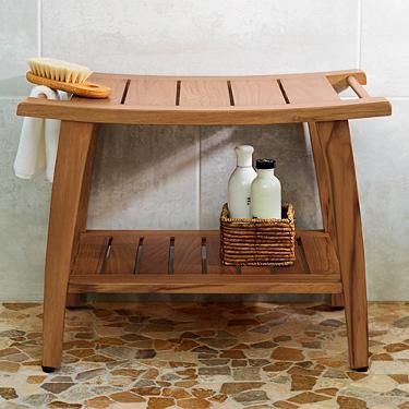 teak shower bench - Shower Stools