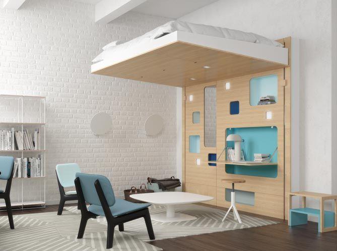 Un lit mezzanine imaginé par un architecte