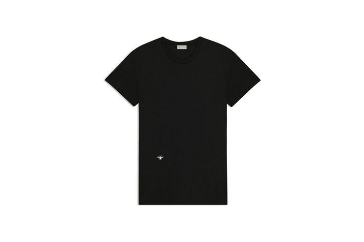 Broderie abeille blanche, coton noir - Dior