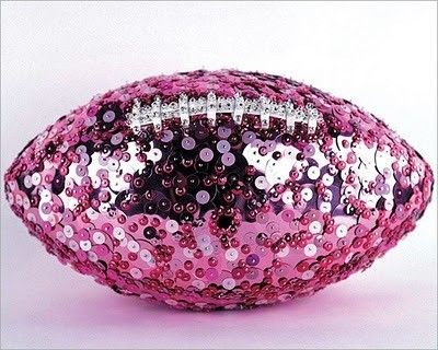 This is pretty much the best thing ever, a bedazzled pink football....lol
