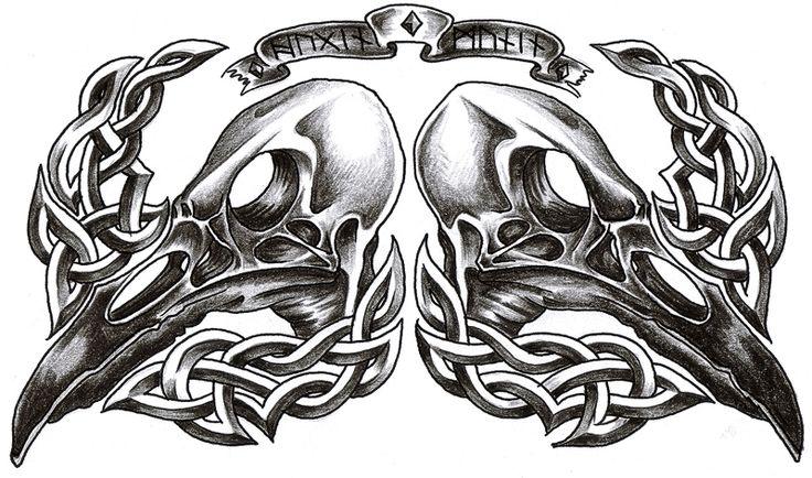 Odin's ravens - hugin and munin by *roblfc1892 on deviantART