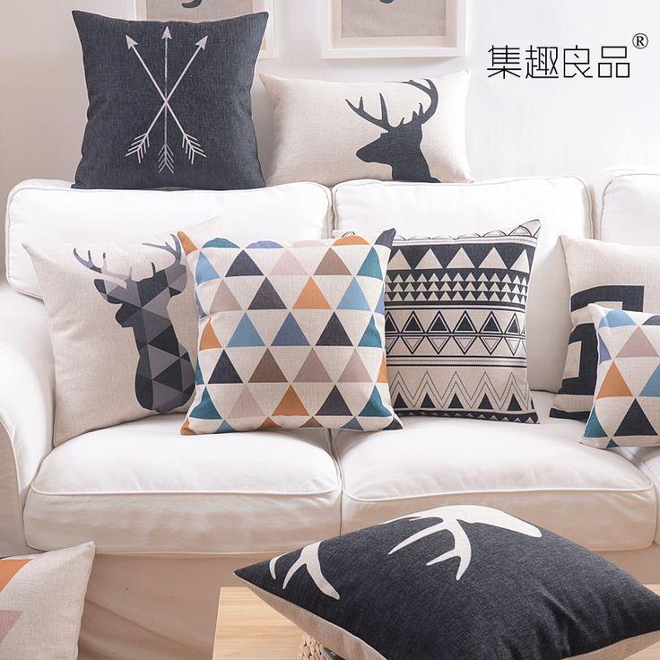 Cheap env o gratis estilo n rdico algod n coj n lumbar for Cojines para sofas