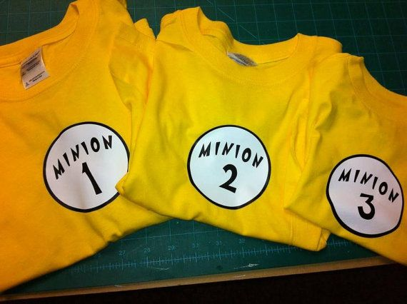 Minion Shirt by InspireMeArtandGraph on Etsy, $12.00--I must get these for me and my friends.