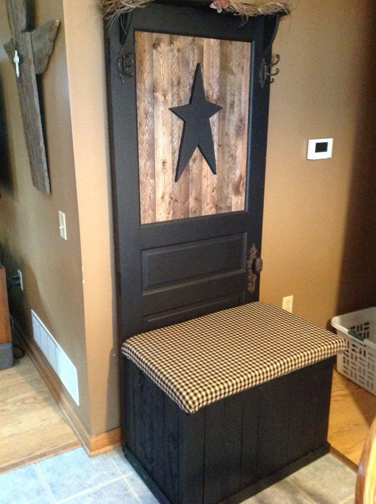 Up Cycled Old Door Made Into A Bench Love It Old